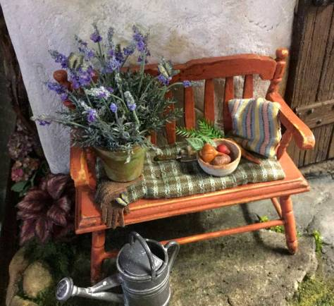 lavender-and-bench